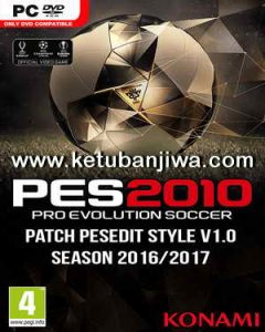 PES 2010 PESEdit Style Patch v1.0 Season 2016/2017