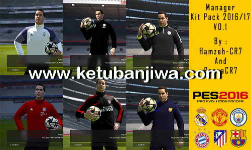 PES 2016 Manager Kits Pack v0.1 Season 16-17 by Hamzeh-CR7 and PooyaCR7 Ketuban Jiwa