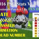 PES 2016 PSD Stats v1.5 For Profesional Patch 4.2