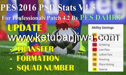 PES 2016 PSD Stats v1.5 for Professionals Patch 4.2 by PES DAHRY
