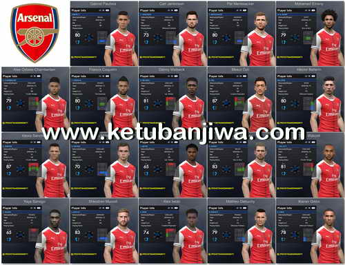PES 2017 Arsenal Facepack 1.0 by Tran Ngoc
