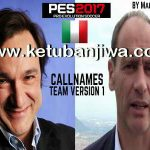 PES 2017 Callnames Team v1 by Mauri-d