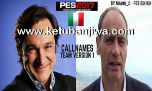 PES 2017 Callnames Team v1 by Mauri_d Ketuban Jiwa