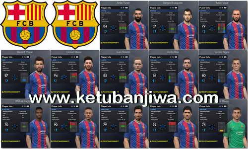 PES 2017 FC Barcelona Faces Pack 1.0 byTran Ngoc Ketuban Jiwa