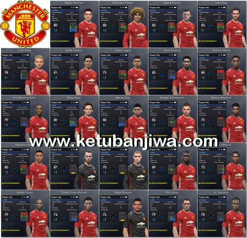 PES 2017 Manchester United Facepack 1.0 by Tran Ngoc Ketuban Jiwa