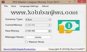 PES 2017 Master League Money Tool v2 by Devil Cold52