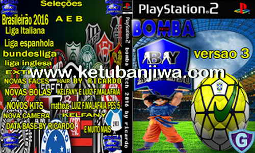 PES 2017 PS2 Bomba Patch Version 3 Update 14 September 2016 Ketuban Jiwa
