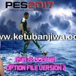 PES 2017 PS4 Option File v2.0 Asia + Oceania by Pesout