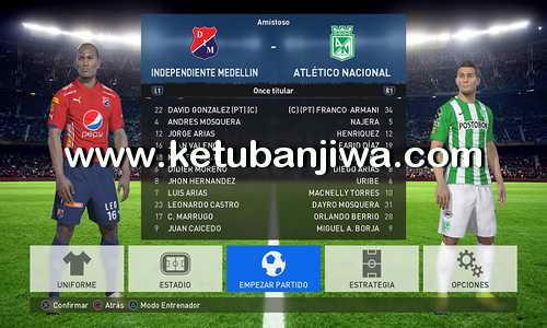 PES 2017 PS4 Option File v1 Liga Águila Ketuban Jiwa
