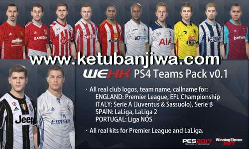 PES 2017 PS4 Teams Pack 0.1 by WEHK Ketuban Jiwa