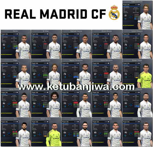 PES 2017 Real Madrid Facespack 1.0 by Tran Ngoc