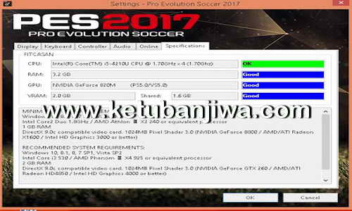 PES 2017 Settings.exe Only For Check Specifications Ketuban Jiwa