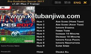 PES 2017 Trainer Tool 1.01 Plus 7 by FLiNG Ketuban Jiwa