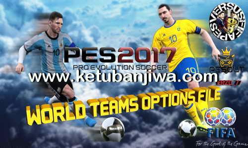 PES2017 PS4 World National Teams Option File 1.0 by Pesout Ketuban Jiwa