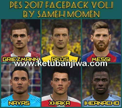 PES 2017 Facepack Vol.1 by Sameh Momen Ketuban Jiwa