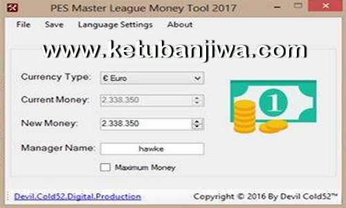 PES 2017 Master League - ML Money Tool v3 Fix by Devil Cold52 Ketuban Jiwa