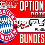 PES 2017 PS3 BLUS – BLES Bundesliga Option File Update