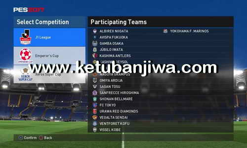 PES 2017 PS4 OPE Option File v1 Ketuban Jiwa