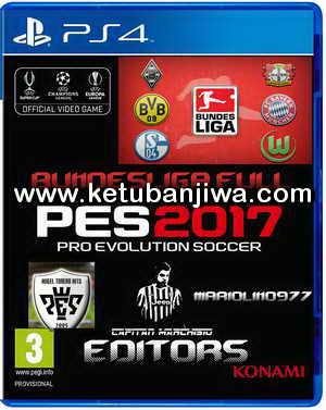 PES 2017 PS4 Option File Full Bundesliga Update by Capitan Marchisio - Mariolino - Angeltorero Ketuban Jiwa