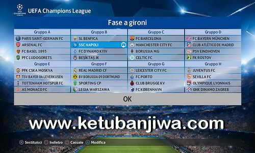 PES 2017 PS4 PESFan Option File 5.0 Champions League AIO + Update Only Ketuban Jiwa