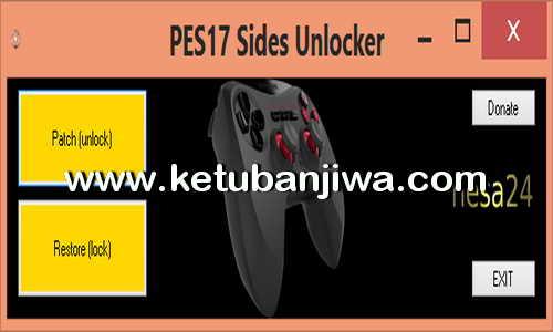 PES 2017 Sides Unlocker Tool by Nesa24 Ketuban Jiwa
