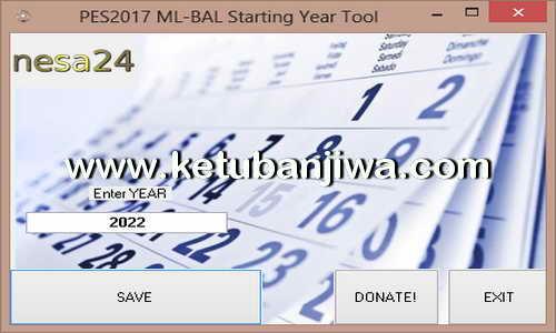 PES 2017 Master League ML - Become A Legend BAL Starting Year Tool by Nesa24 Ketuban Jiwa