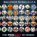 PES 2017 Ballpack 50 Balls 1.0 by cRoNoS