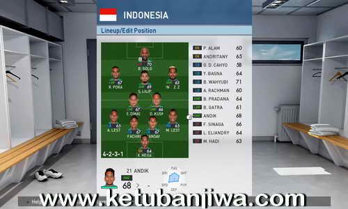 PES 2017 Indonesia National Teams AFF 2016 Addon v1.0 For PTE Patch 3.1 by Aldivio Ketuban Jiwa