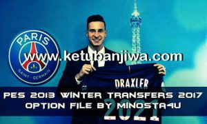 PES 2013 Option File Update Transfer 21/01/2017