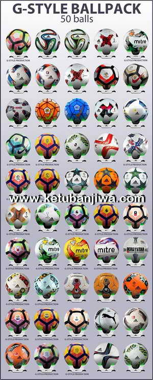 PES 2017 Ballpack 50 Balls Beta Version by G-Style Ketuban Jiwa