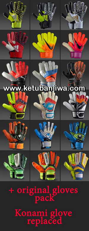 PES 2017 Goalkeeper Gloves Pack by FarhanA Ketuban Jiwa