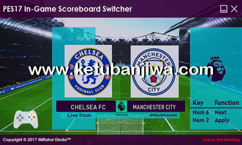 PES 2017 In-Game Scoreboard Switcher by Ginda01 Ketuban Jiwa