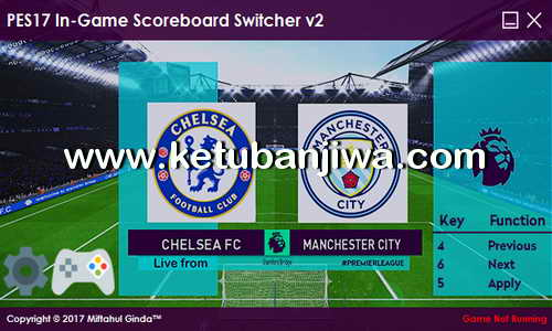 PES 2017 In-Game Scoreboard Switcher v2 by Ginda01 Ketuban Jiwa