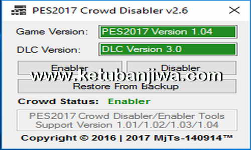 PES 2017 Crowd Disabler Tools v2.6 by MjTs-140914 Ketuban Jiwa