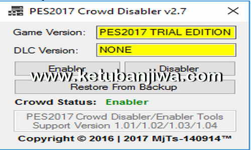 PES 2017 Crowd Disabler v2.7 Tools by MjTs-140914 Ketuban Jiwa