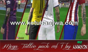 PES 2017 Mega Tattoo Pack Vol 1 by Amir.Hsn7