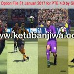 PES 2017 PTE 4.0 Full Option File 31/01/2017