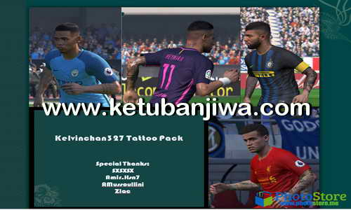 Download PES 2017 Tattoo Pack by Kelvinchan327 Ketuban Jiwa