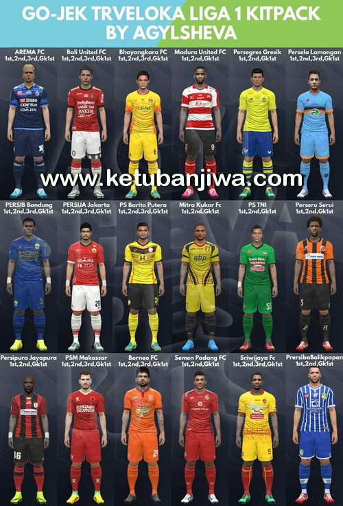 Download PES 2017 Gojek Traveloka Liga 1 Kitpack by Agylsheva Ketuban Jiwa