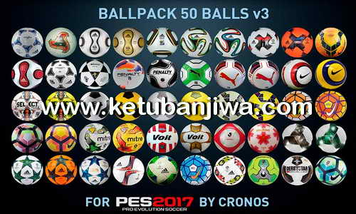 PES 2017 Ballpack 50 Balls v3 by cRoNoS Ketuban Jiwa