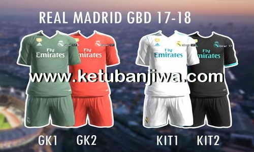 Download PES 2013 Real Madrid GDB Kits Season 2017-2018 by Kikejg17 Ketuban Jiwa