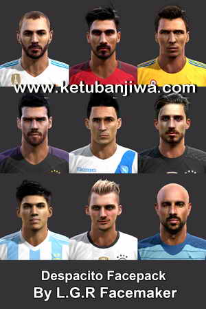 PES 2013 Despacito Faces Pack by L.G.R Facemaker Ketuban Jiwa