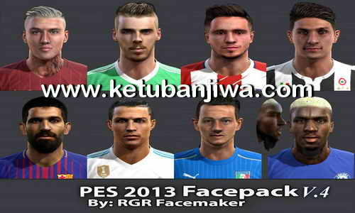 PES 2013 Faces Pack V.4 by Rgr Facemaker Ketuban Jiwa
