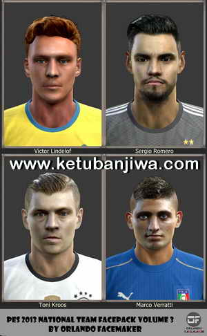 PES 2013 National Team Facepack Volume 3 by Orlando Facemaker Ketuban Jiwa