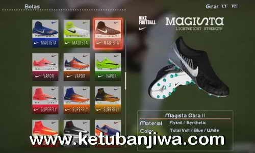 PES 2013 Nike Magista Obra II Boots 2017-2018 by DaViDBrAz Ketuban Jiwa