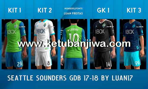 PES 2013 Seattle Sounders FC GDB Kit Season 2017-18 by Luan17 Ketuban Jiwa