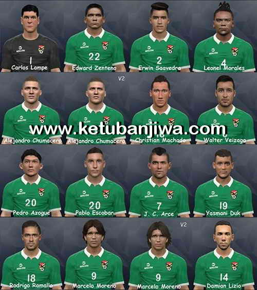 PES 2017 Bolivia Facepack by Litos Facemaker Ketuban Jiwa