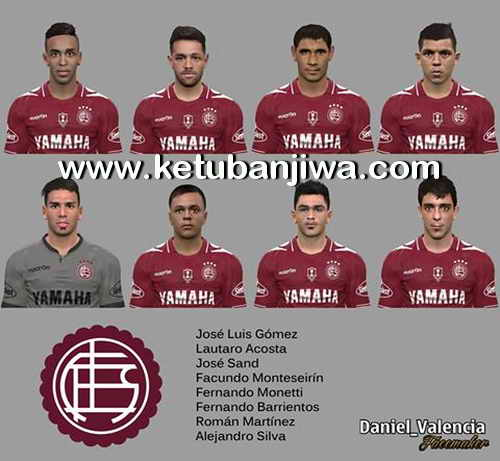 PES 2017 C.A.Lanus Faces Pack by Daniel Valencia Facemaker Ketuban Jiwa