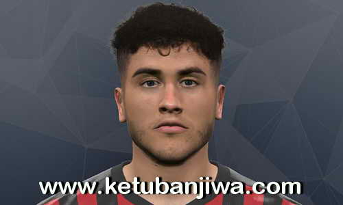 PES 2017 Davide Calabria Face - AC Milan by Litos Facemaker Ketuban Jiwa