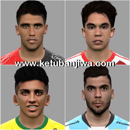 PES 2017 Facepack 4 Faces by LF Facemaker Ketuban Jiwa